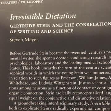 Stein, Gertrude: Irresistible Dictation