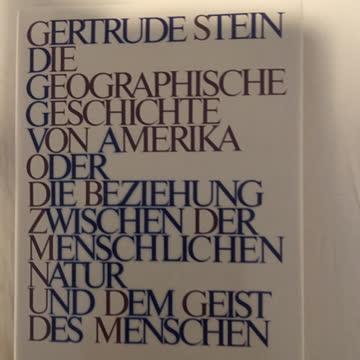 Stein, Gertrude: Geschichte v Amerika..