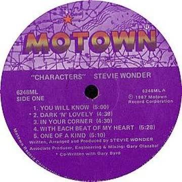 Stevie Wonder - Characters (1987) [Vinyl LP]