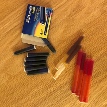 Tintenpatronen für Füller