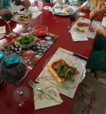 Küchentisch rot hochglanz 90x200