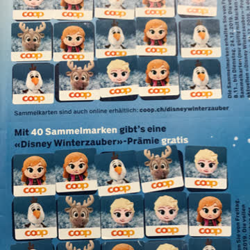 Disney Winterzauber, 40 Sammelmarken