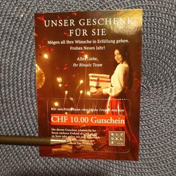 10.00 CHF Gutschein RITUALS