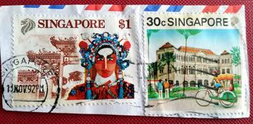 Singapore $1 & 30c 1992