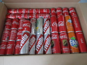 755 Coca Cola Dosen Dose leer 4 Kisten Fanta & Rivella div.