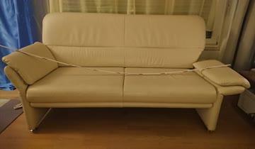 3er Sofa +passendem Sessel Echt Leder