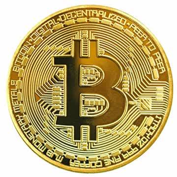Kupfer-Bitcoin Erinnerungs-Münze in gold-Farbe