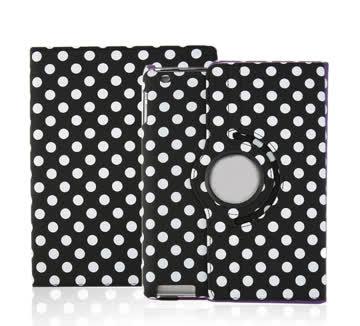NEUE Hülle schwarz-weiss Polka dots für Tablet