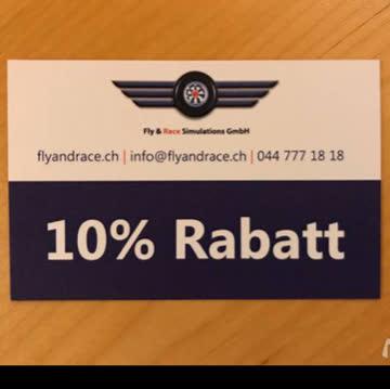 10% Fly & Race Simulations Gutschein