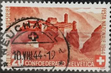 1944 PP Kastell im Misox gestempelt