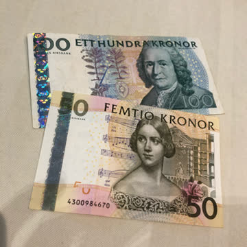 Geldscheine Banknoten Schwedische Kronen