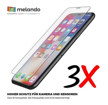 3x Panzerglas für iPhone XS Max