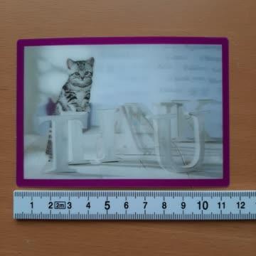 3D Postkarte whiskas thank u