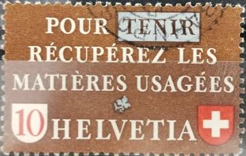 1942 Altstoffverwertung französisch gestempelt