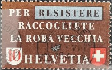1942 Altstoffverwertung italienisch gestempelt