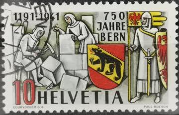 1941 750 Jahre Bern gestempelt