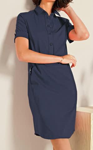 Hemdblusenkleid Kleid blau Bianca Dorine