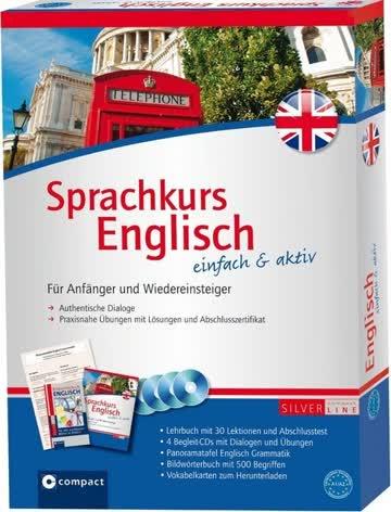 Sprachkurs Englisch einfach & aktiv, Lehrbuch m. 4 Audio-CDs