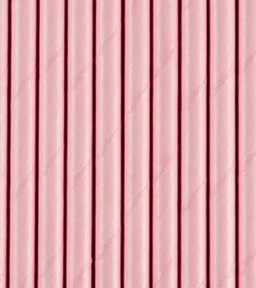 Papierstrohhalme Strohhalm rosa 20 Stück