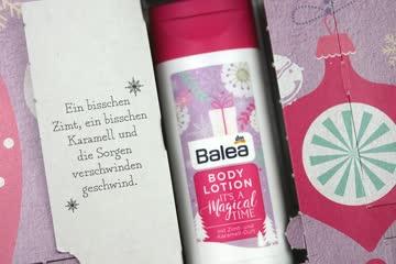 Balea Body Lotion mit Zimt- und Karamell-Duft