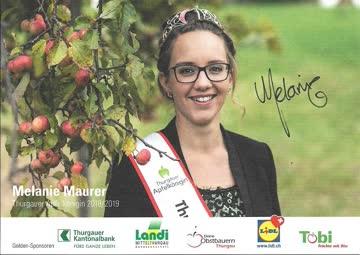 Karte - Thurgauer Apfelkönigin Melanie Maurer