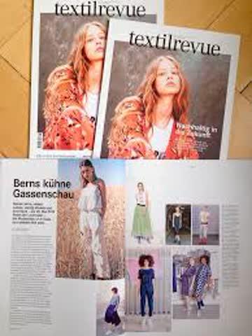 """textilrevue 5/ 30. April 2019 """"Nachhaltig in die Zukunft"""""""
