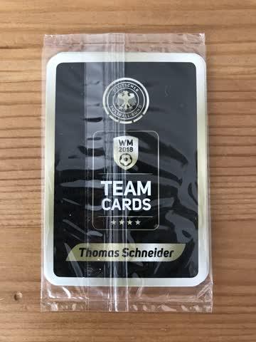 originalverpackte WM2018 Team Cards, Deutscher Fussball-Bund