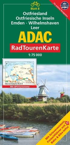 ADAC Radtourenkarte Ostfriesland