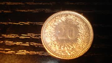 20 Rappenstück von 1929
