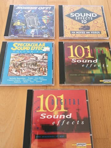 5 Stück ORIGINALE CDs Digitale Spezial-Effekte -TOP!!!