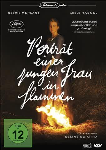 Porträt einer jungen Frau in Flammen