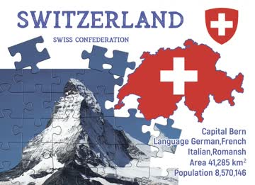 Postkarte Step to Switzerland