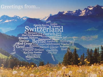 Postkarte WC Switzerland