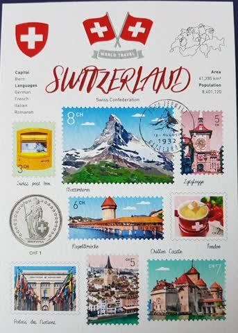 Postkarte WT Switzerland