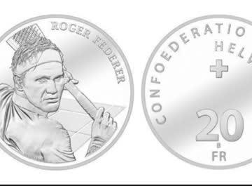 Roger Federer Münze neu