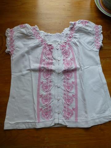 "Shirt ""Bluse"" kurzarm Gr. 68"