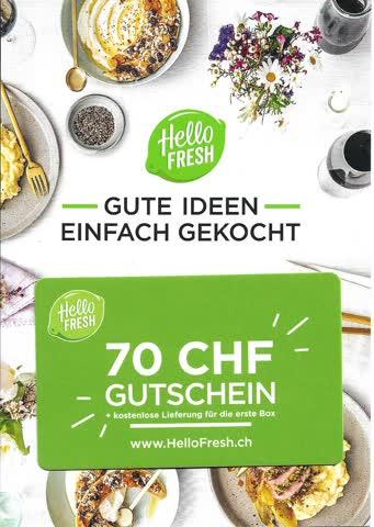 Gutschein HelloFresh CHF 70