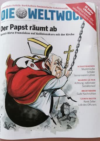 Der Papst räumt ab