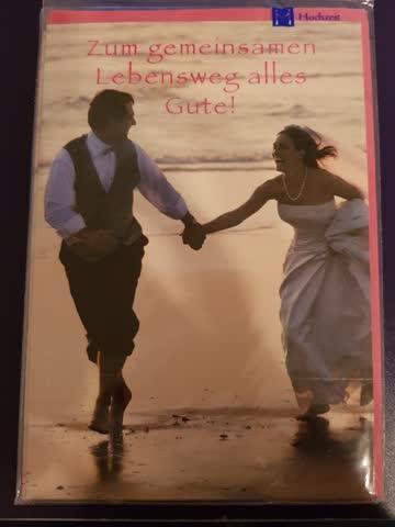 Hochzeitskarte mit Couvert fabrikneu