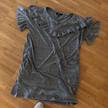 T-Shirtkleid graufarben