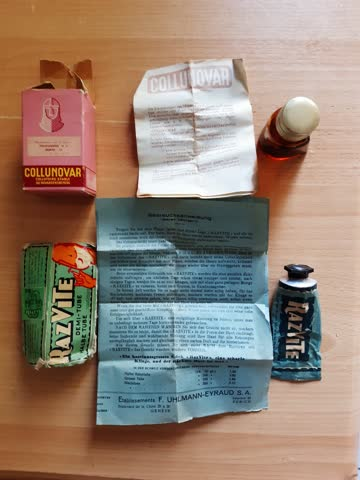 Medik.pack. COLLUNOVAR mit Tube,Razvite mit leerer Fläschli