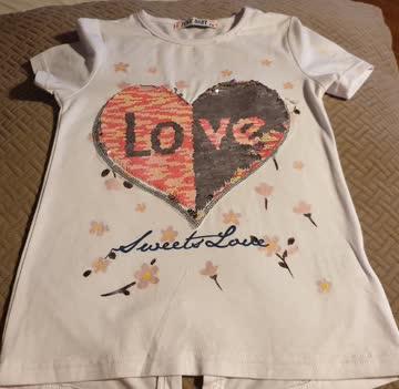 Süsses Wendepailetten shirt gr 119