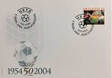 2004 FDC Jubiläum Europäische Fussball Union UEFA MiNr: 1865