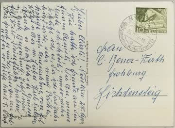 1956 Ansichtskarte aus Nesslau SG 25.4.1956