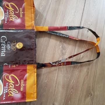 Trendy Tasche aus Kaffeebohnen verpackung (plastik)