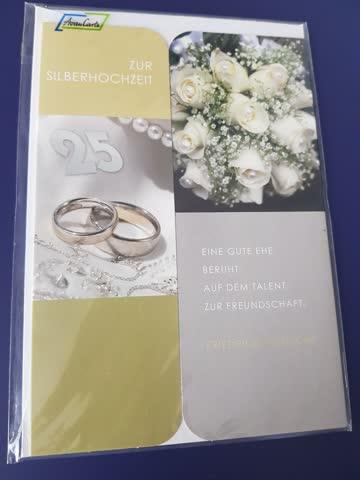 """Glückwunschkarte """"Zur Silbernen Hochzeit"""""""