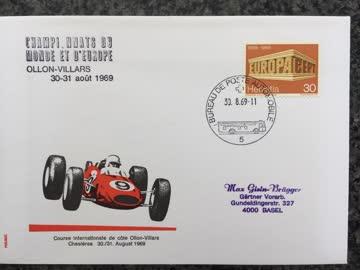 Ersttagsbrief «Course Int. De Côte Ollon-Villars 1969»
