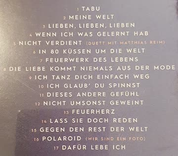 """Michelle - Album """"Tabu"""" ( wie neu!)"""
