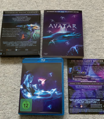 Avatar BluRay 3 Disc Extended Collectors Edition