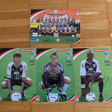 Autogrammkarten FC Aarau